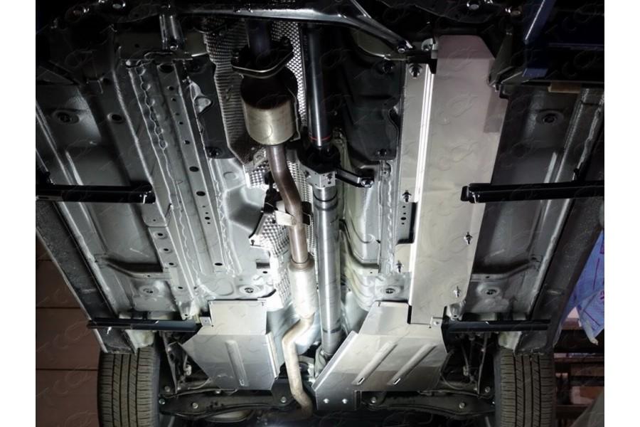 Защита бака левая (алюминий) 4мм (двг.2.0, 2.4, 4WD)