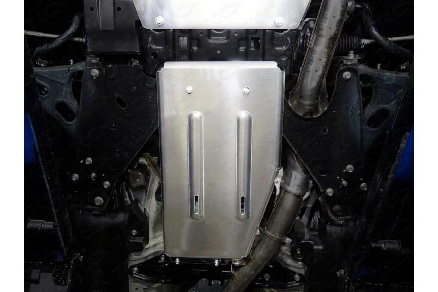 Защиты комплект (алюминий) 4мм (картер и кпп, задний дифференциал, бак правая, бак правая)(не устанавливается с передней защитой а/м)