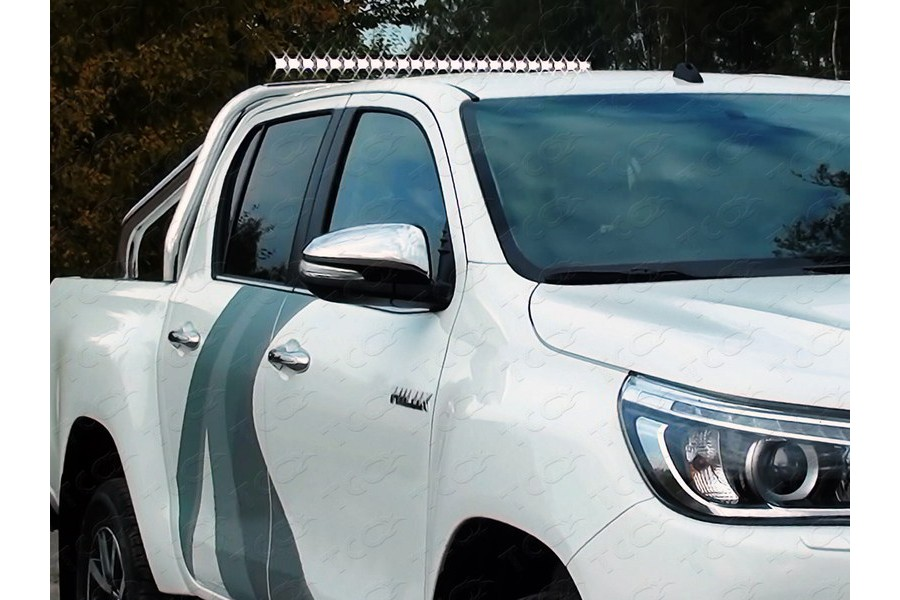 Защита кузова и заднего стекла (без надписи) 76,1 мм со светодиодной фарой