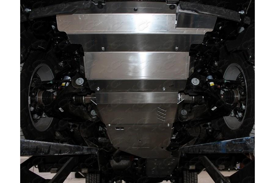 Защиты комплект (алюминий) 4мм (картер, радиатор, кпп, раздатка, передний мост, бак)