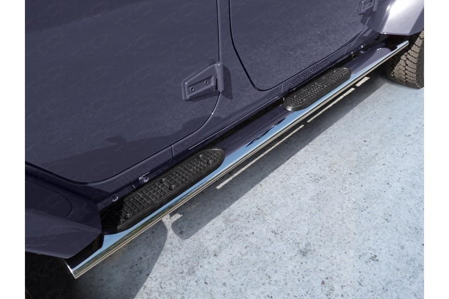 Пороги овальные с накладкой 120х60 мм