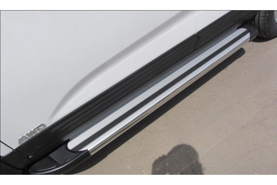 Пороги алюминиевые Brilliant Silver 1700 Geely Emgrand X7 2013-