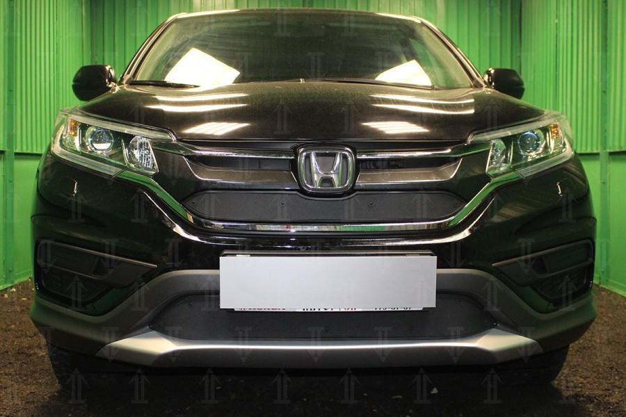 Защита радиатора Honda CR-V IV 2015- 2.0 black низ