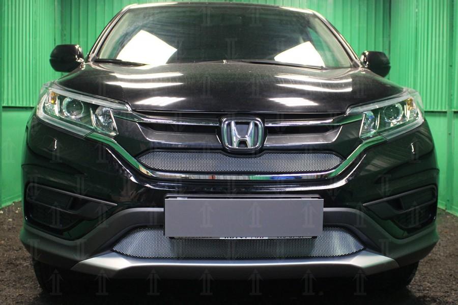 Защита радиатора Honda CR-V IV 2015- 2.0 chrome низ