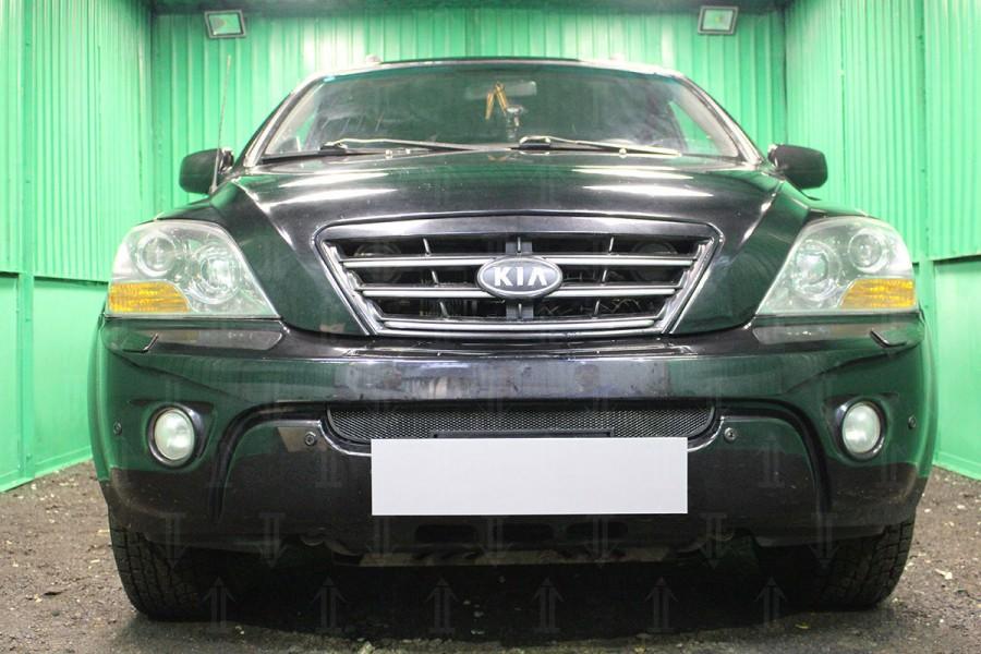 Защита радиатора KIA Sorento I рестайлинг 2006-2011 black низ