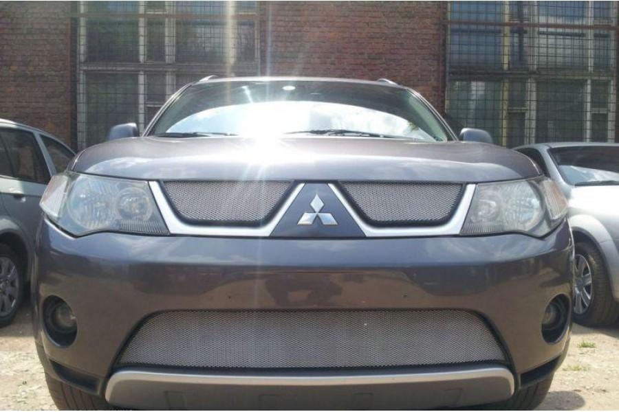 Защита радиатора Mitsubishi Outlander XL 2006-2010 chrome низ