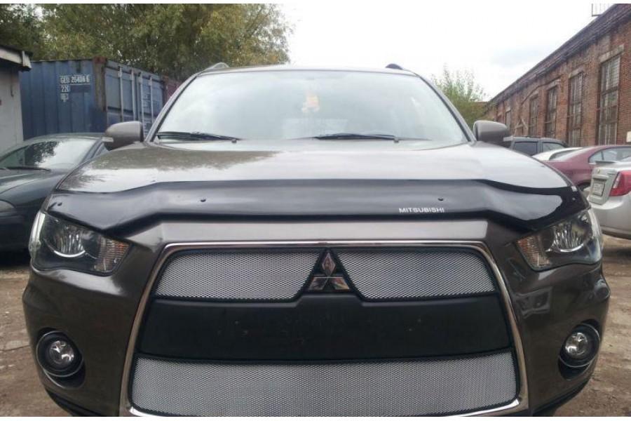 Защита радиатора Mitsubishi Outlander XL 2010-2012 (2 части) chrome