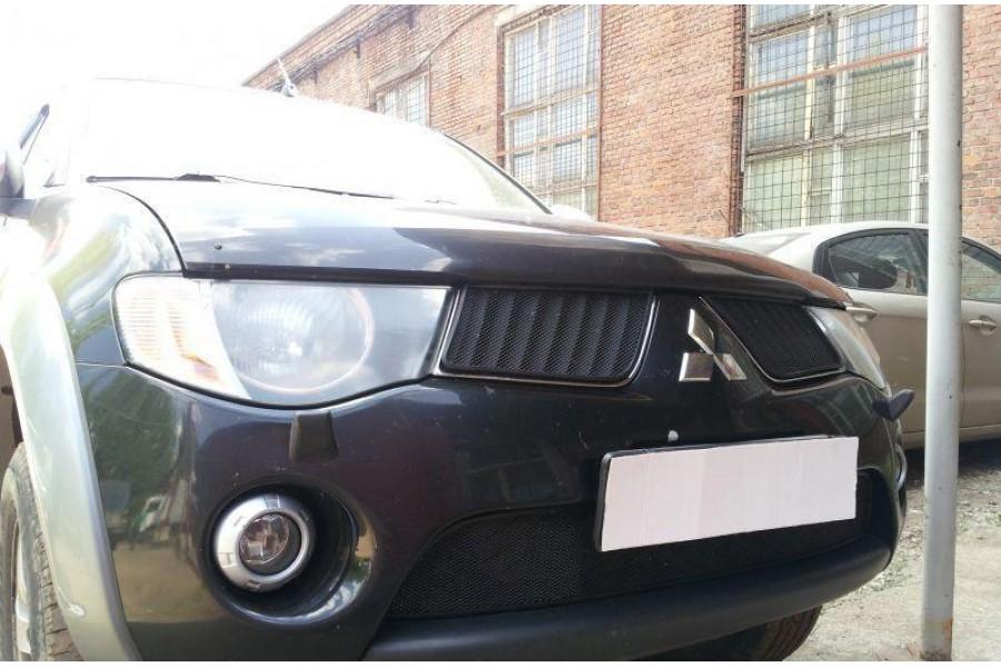 Защита радиатора Mitsubishi L200 2006-2010 black низ