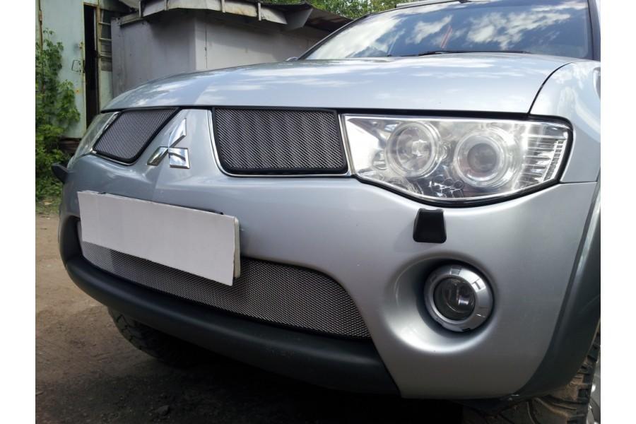 Защита радиатора Mitsubishi L200 2006-2010 chrome верх