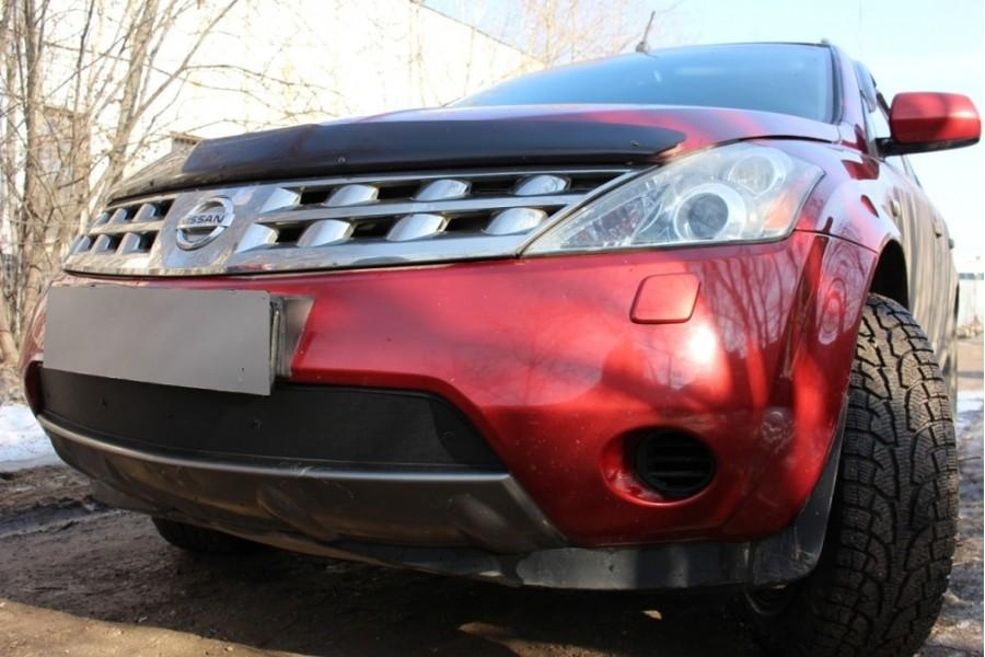 Защита радиатора Nissan Murano Z50 2002-2008 black