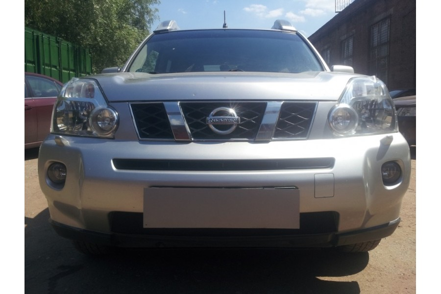 Защита радиатора Nissan X-Trail 2007-2010 black низ