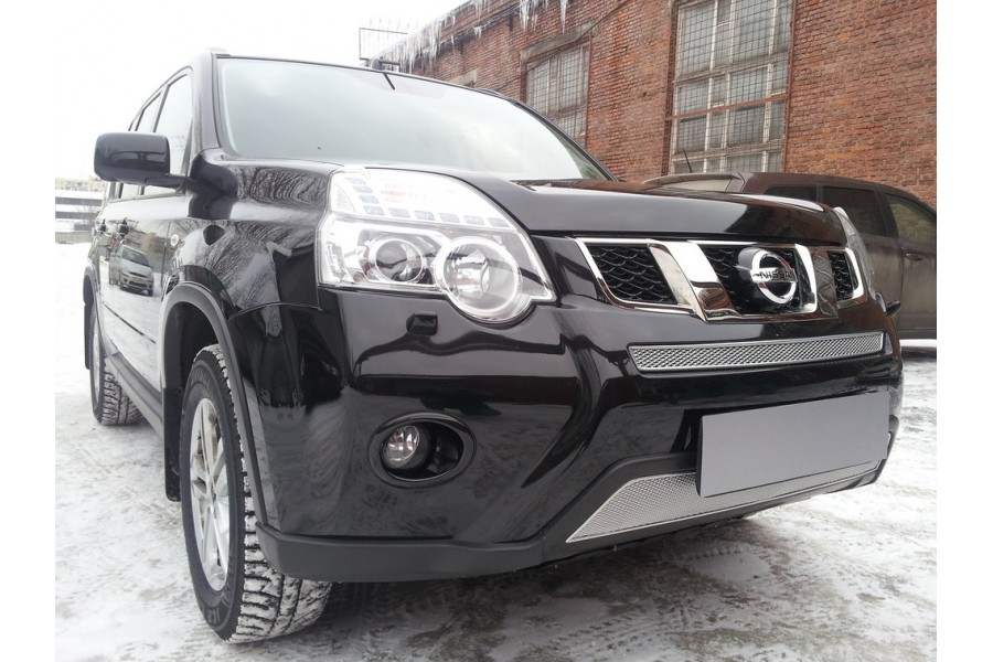 Защита радиатора Nissan X-Trail 2007-2010 chrome низ