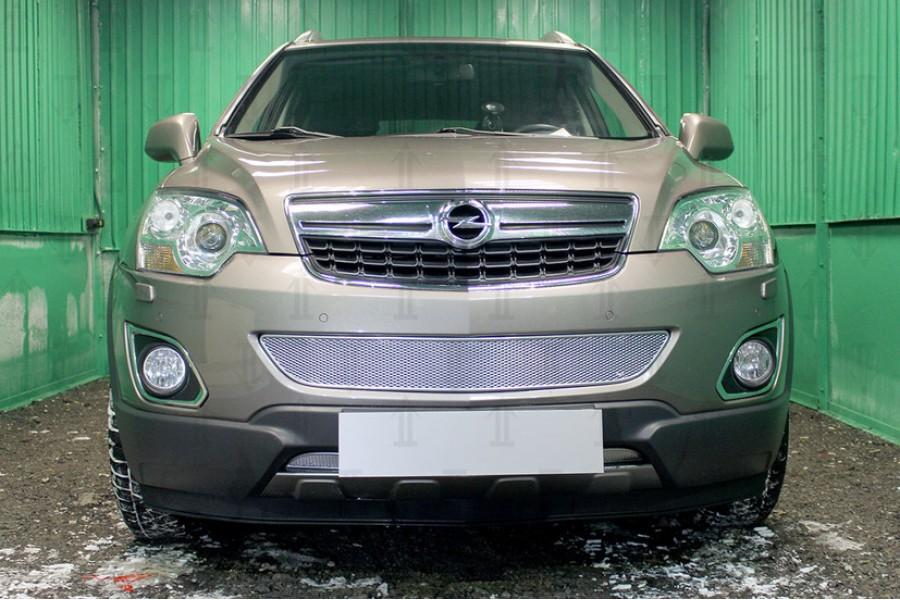 Защита радиатора Opel Antara I (рестайлинг) 2010- chrome середина PREMIUM