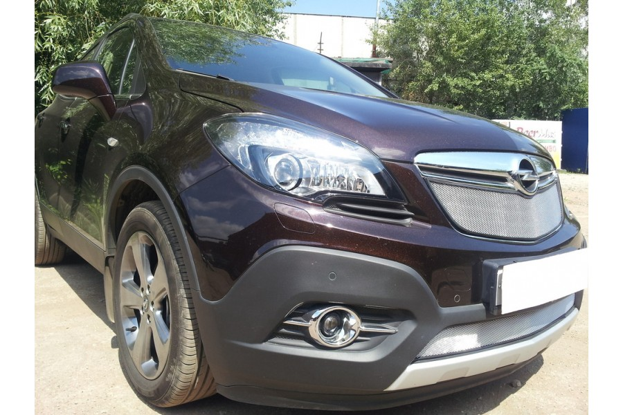 Защита радиатора Opel Mokka 2012- chrome низ