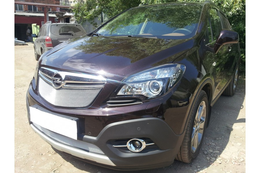 Защита радиатора Opel Mokka 2012- chrome верх