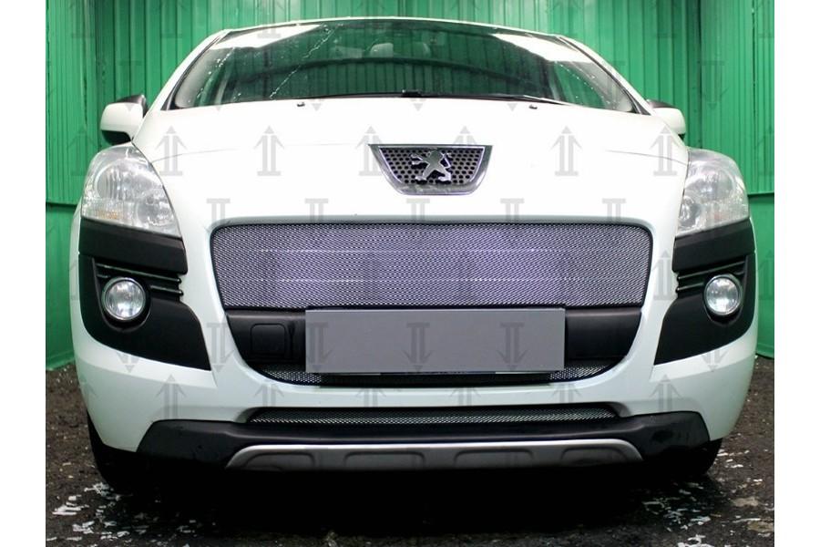 Защита радиатора Peugeot 3008 2009-2013 black верх