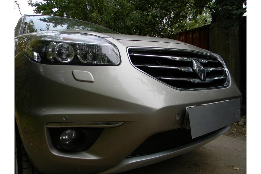 Защита радиатора Renault Koleos 2012- black PREMIUM