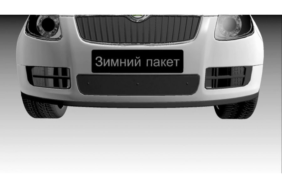 Защита радиатора Subaru Forester II 2002-2005 black низ