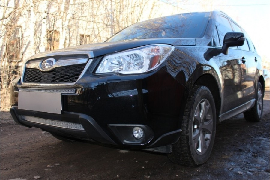 Защита радиатора Subaru Forester 2012- chrome низ PREMIUM