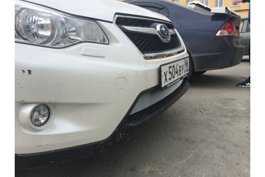 Защита радиатора Subaru XV 2012-2016 chrome