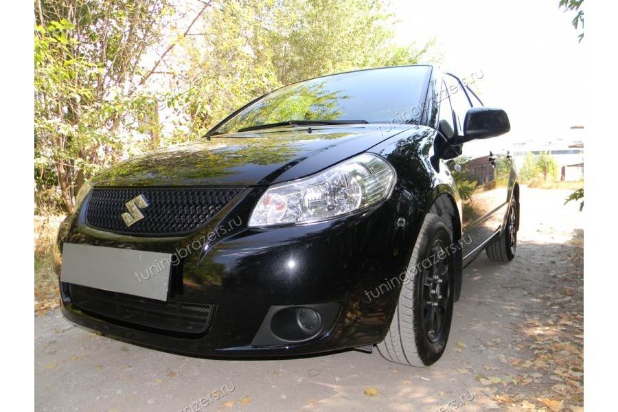 Защита радиатора Suzuki SX4 sedan 2007-2011 black