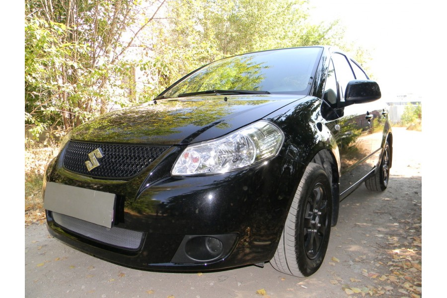 Защита радиатора Suzuki SX4 sedan 2007-2011 chrome