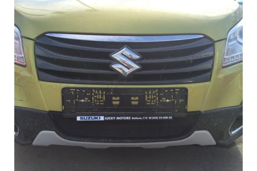 Защита радиатора Suzuki SX4 hb 2011- рестайлинг black