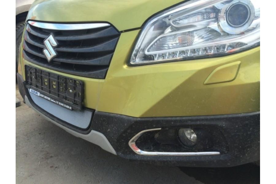 Защита радиатора Suzuki SX4 hb 2011- рестайлинг chrome