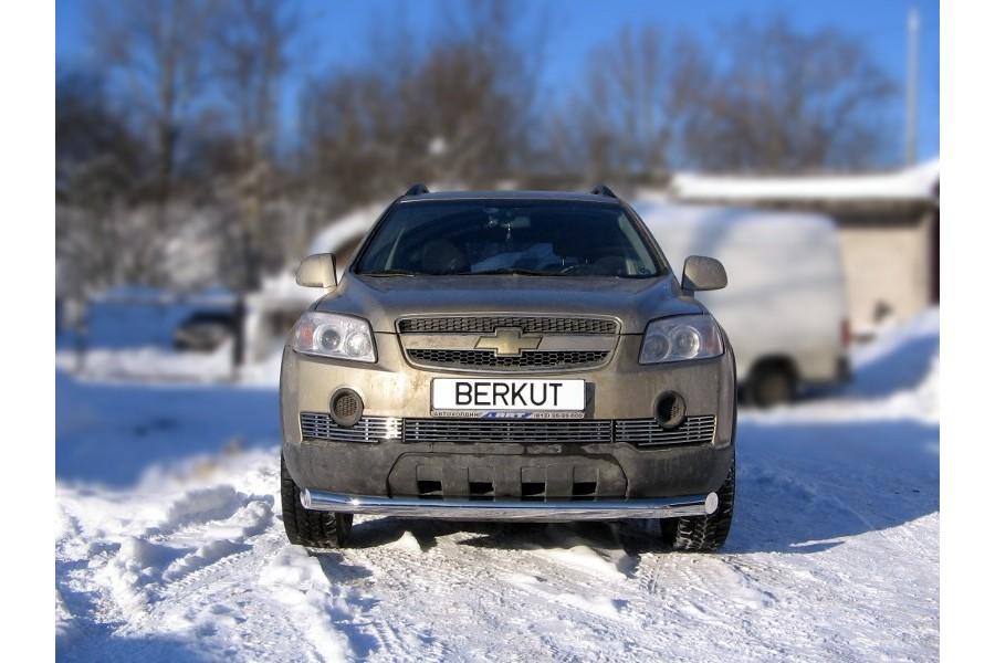 Защита передняя одинарная d76 Chevrolet Captiva 2006-2011