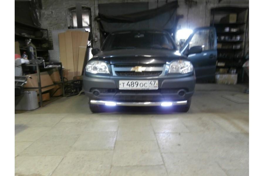 Защита передняя одинарная d76 Chevrolet-Niva 2002-2009