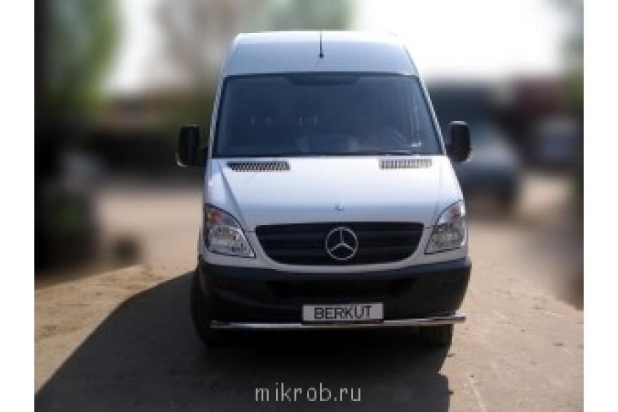 Защита передняя одинарная d60 (скосы) Mercedes-Benz Viano W639 2003–2010