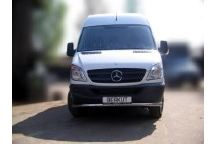 Защита передняя одинарная d60 с дневными ходовыми огнями   (скосы) Mercedes-Benz Viano W639 2003–2010