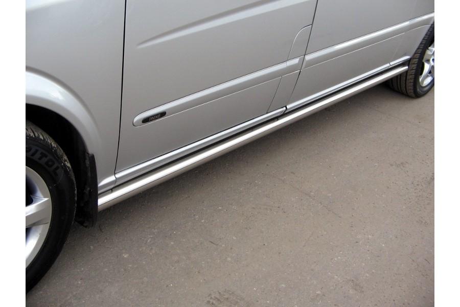 Повторители штатных порогов d60 (труба с заглушками) Mercedes-Benz Viano W639 (long base) 2003–2010