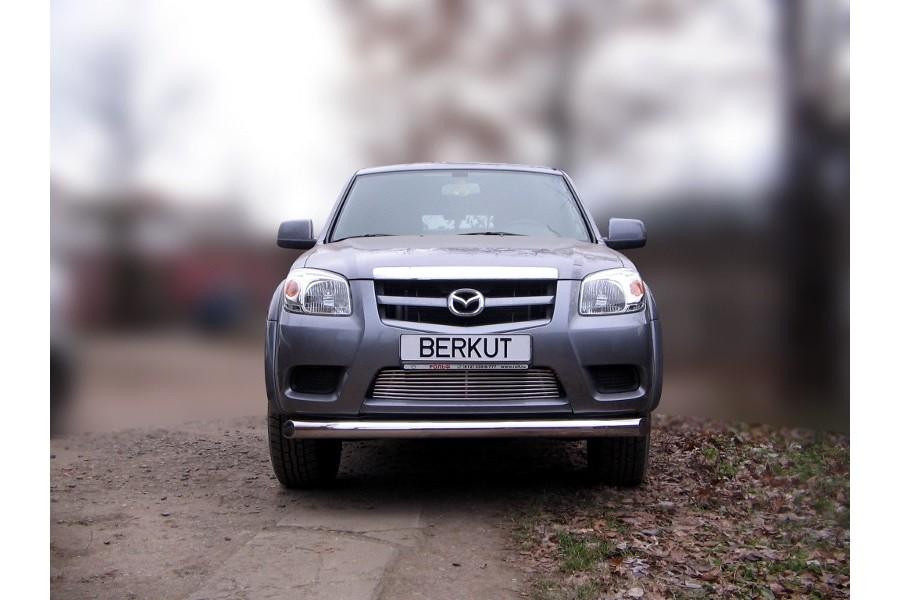 Защита передняя одинарная d76 Mazda BT-50 (J97M) Double Cab 2008-2011