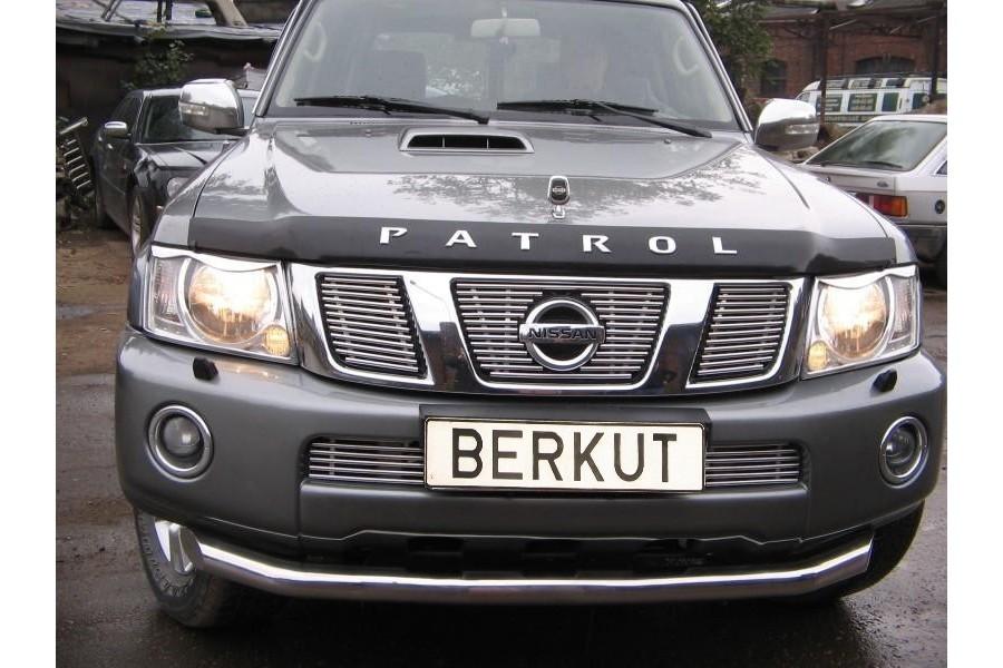 Защита передняя одинарная d76 Nissan Patrol Y61 2004-2006