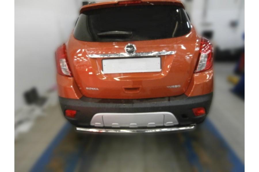 Защита задняя одинарная d42 (скосы) Opel Mokka 2014-