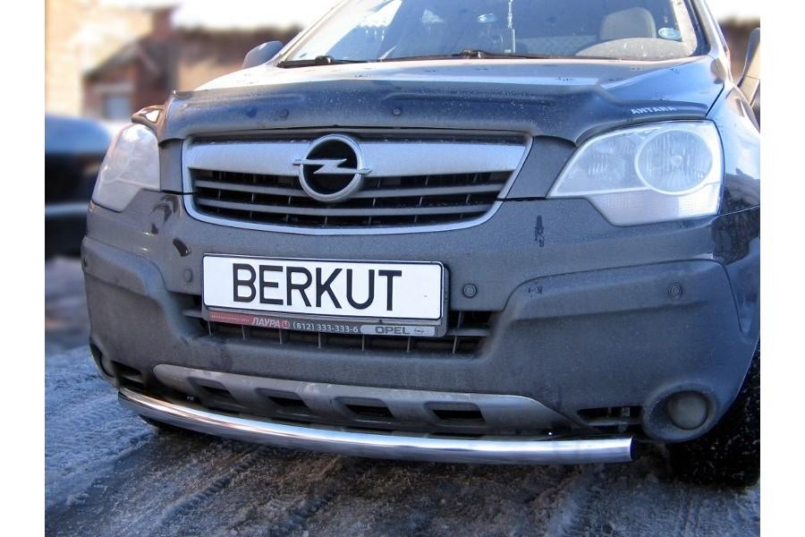 Защита передняя одинарная d60 (скосы) Opel Antara 2006-2010