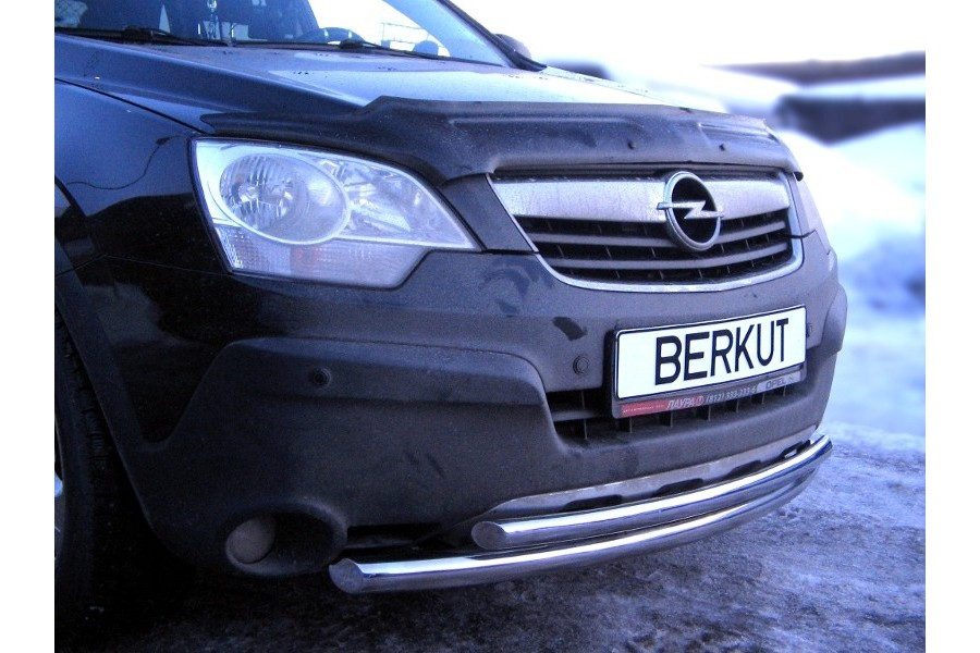 Защита передняя двойная d60/42 (скосы) Opel Antara 2006-2010