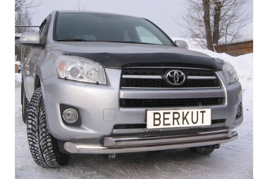Защита передняя двойная d76/60 (скосы) Toyota RAV4 XA30 2008-2010