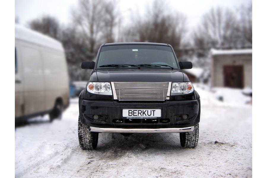 Защита передняя одинарная d76 УАЗ Патриот 2008-