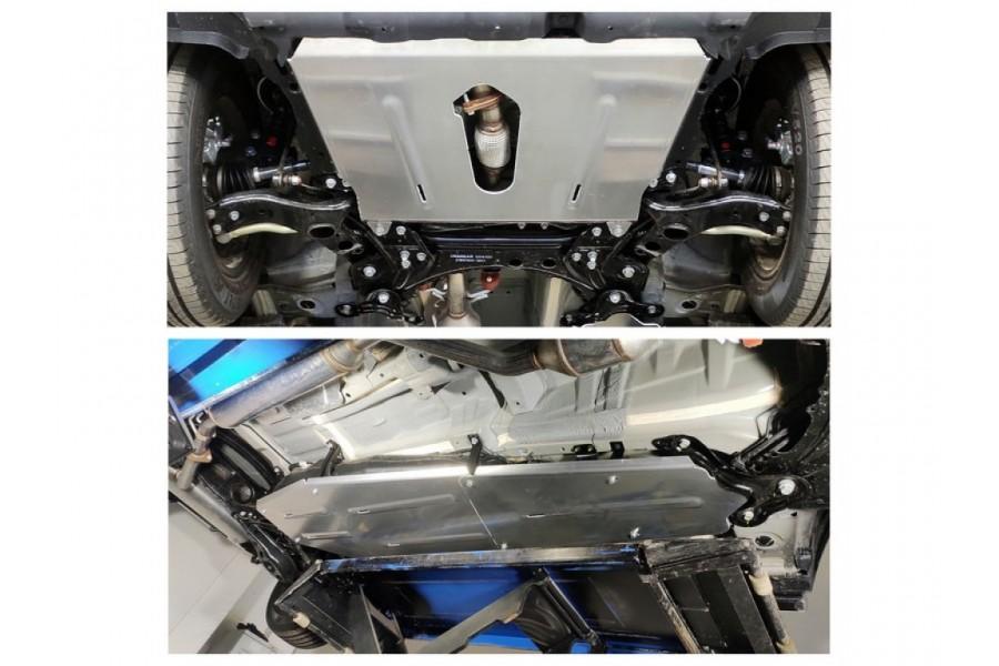 Защиты комплект (алюминий) 4 мм (картер, кпп, бака и адсорбера) 2WD