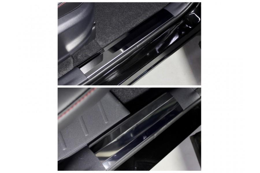 Накладки на пластиковые пороги (лист зеркальный) 4шт