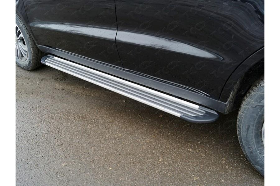 """Пороги алюминиевые """"Slim Line Silver"""" 1720 мм"""