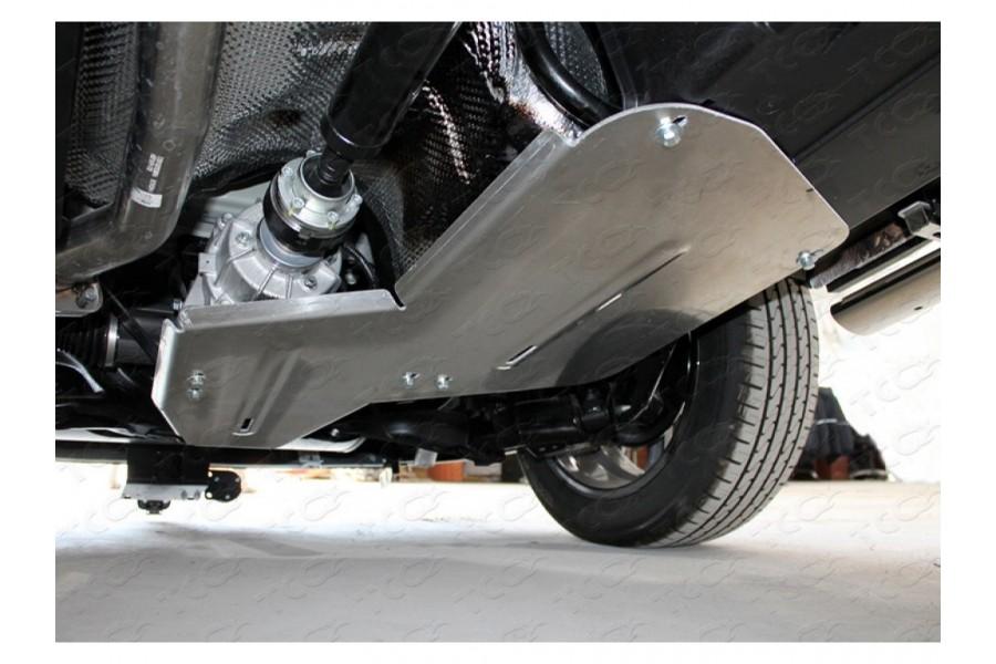 Защита бака и заднего дифференциала (алюминий) 4мм 1,5 4WD Premium