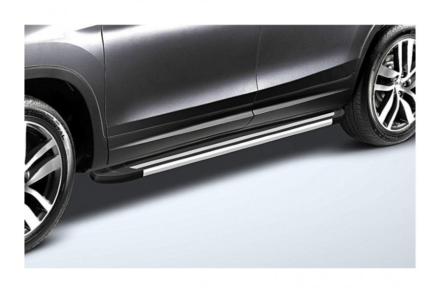 """Пороги алюминиевые """"Luxe Black"""" 1800 черные"""