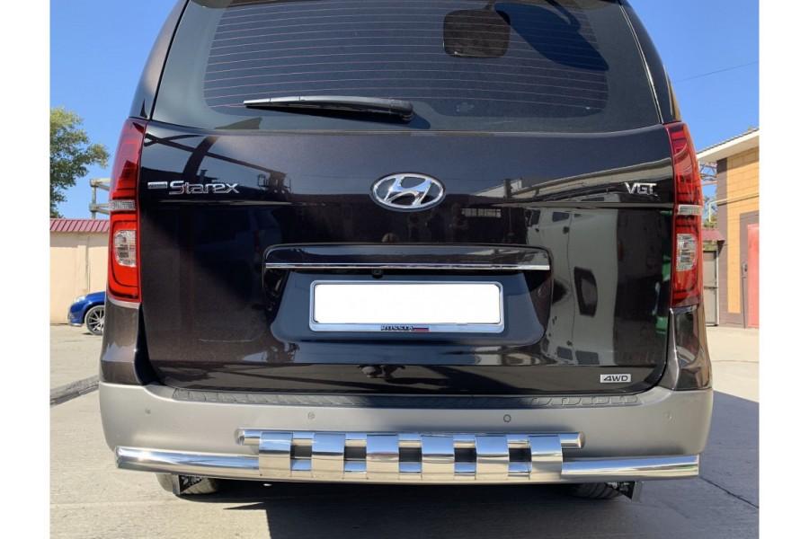 Защита заднего бампера с перемычками d60/42