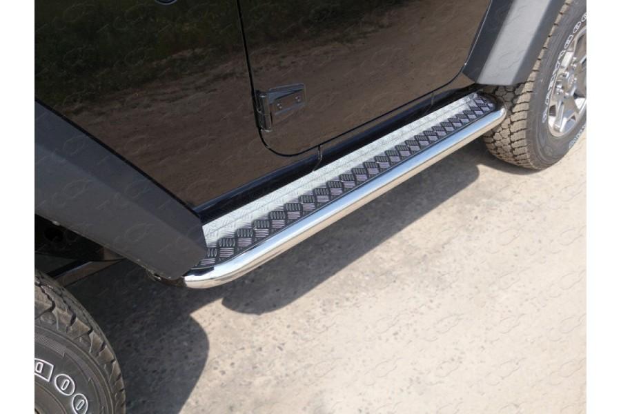 Пороги с площадкой 60,3 мм(алюминиевый лист)