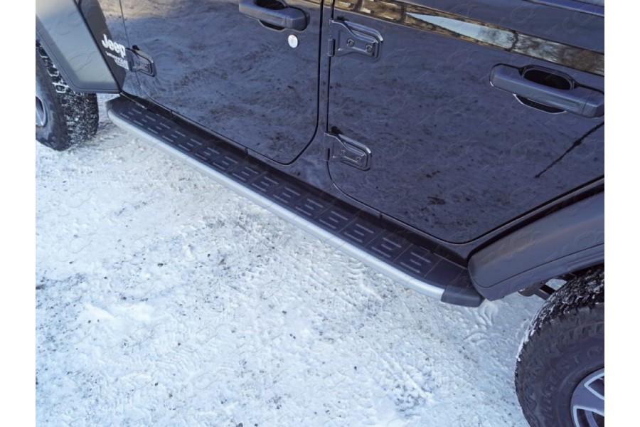 Пороги алюминиевые с пластиковой накладкой (карбон серебро) 1920 мм