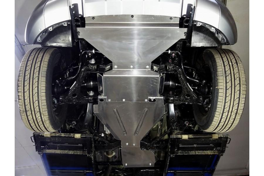 Защиты комплект (алюминий) 4мм (радиатор, картер, редуктор, кпп, рейка, раздатка)