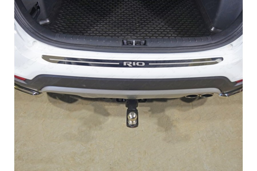 Накладка на задний бампер (лист зеркальный надпись RIO)